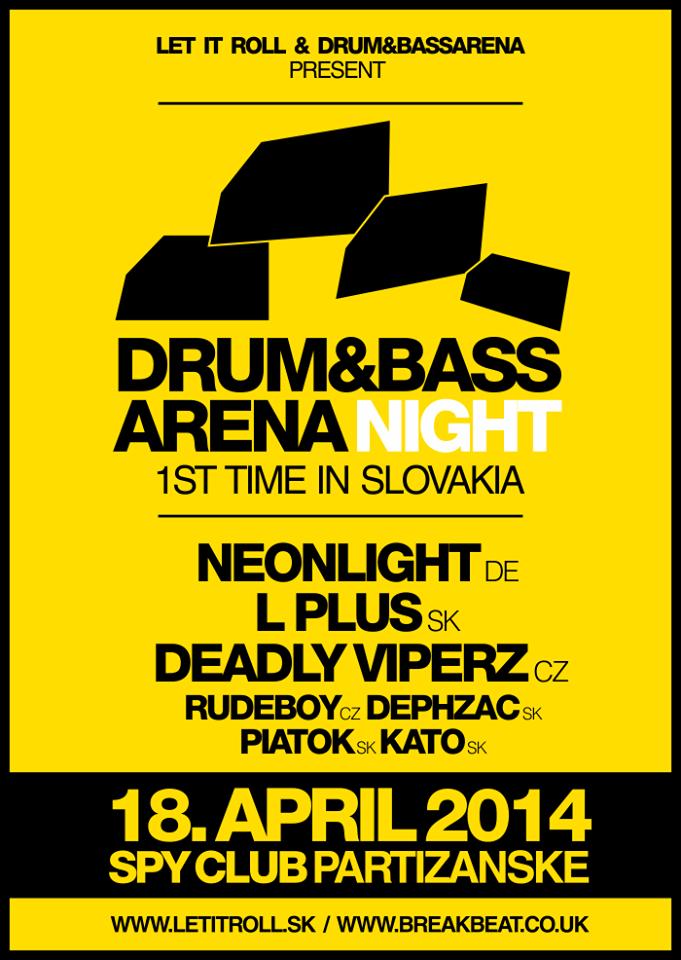 Drum&BassArena Night @ SPY Club ( 1st time in Slovakia! )