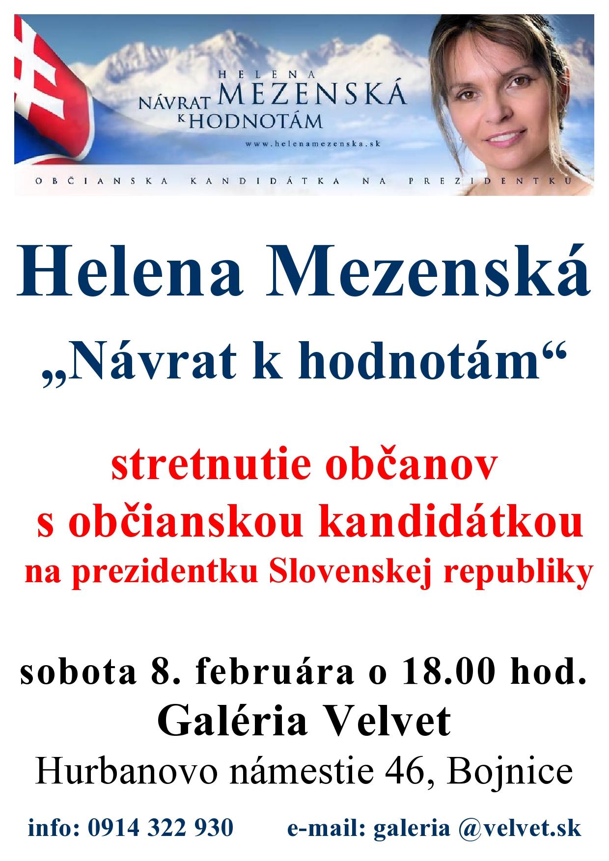 Helena Mezenská - Návrat k hodnotám