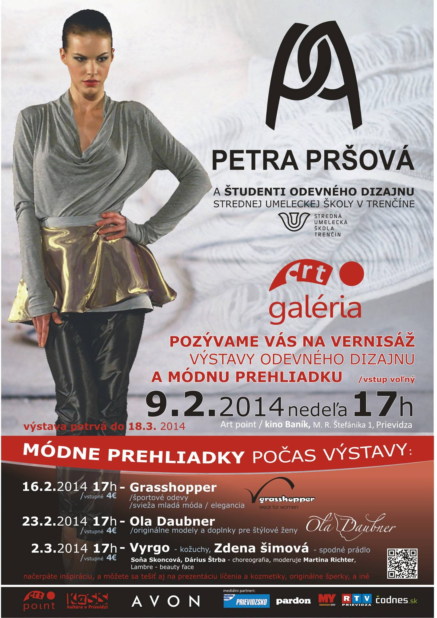 Výstava odevného dizajnu Petra Pršová a študent!