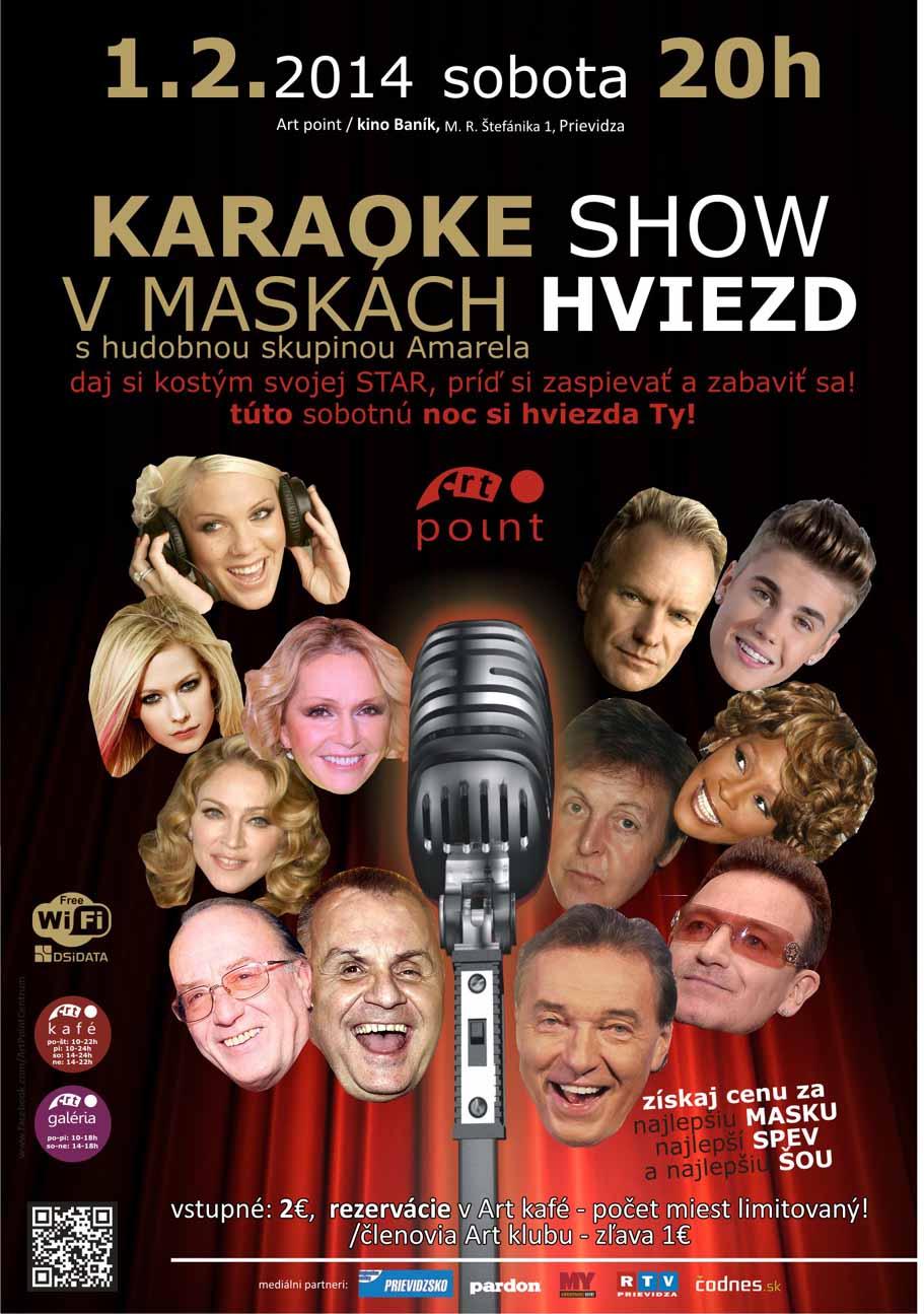 Karaoke show v maskách HVIEZD