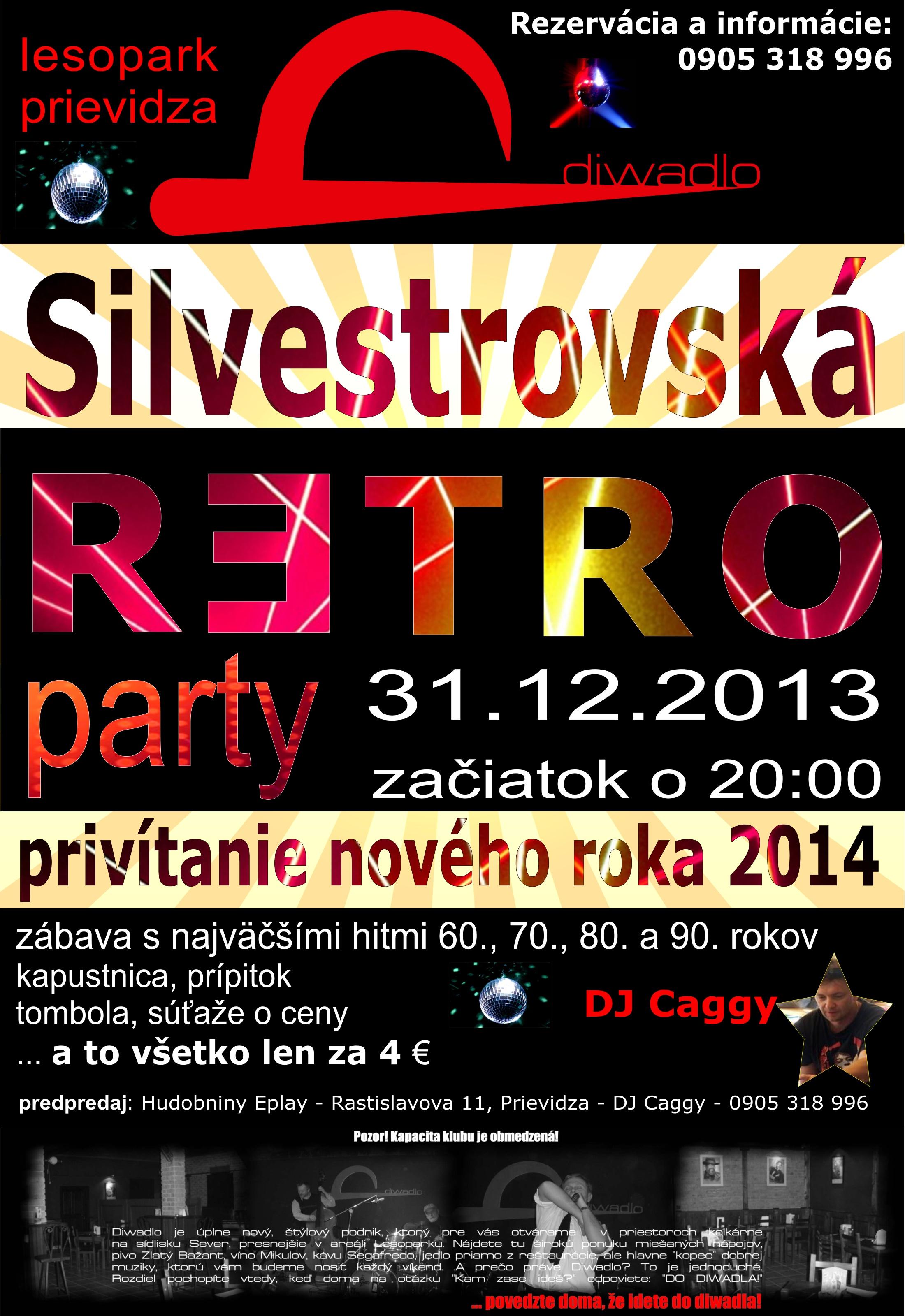 ROCK n' RETRO SILWESTER v Diwadle (DJ Caggy)