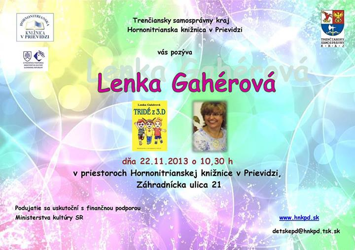 Beseda s Lenkou Gahérovou