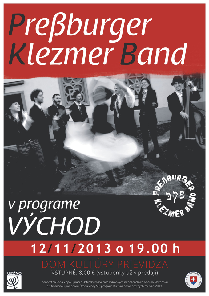 Koncert Pressburger Klezmer Band a ich hostí