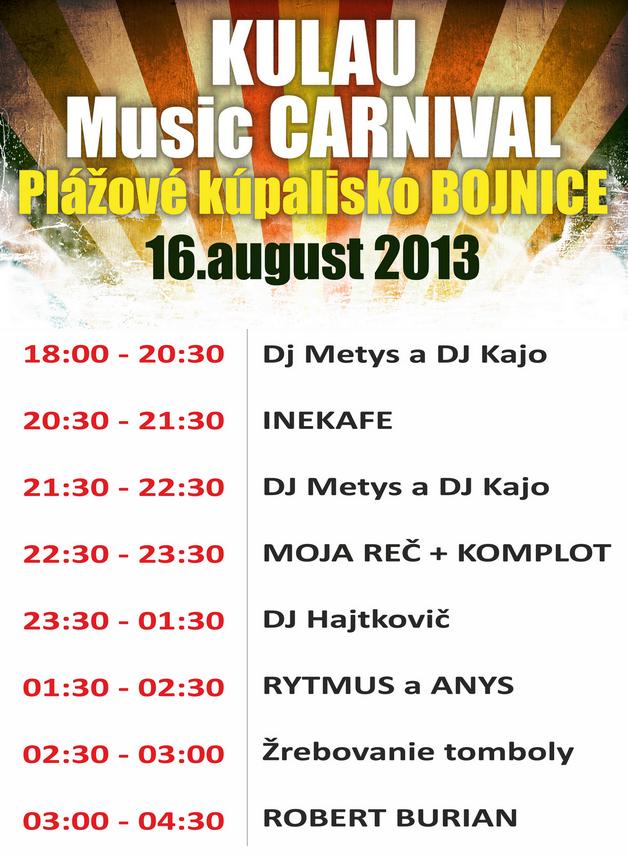 LINE UP !!!! KULAU Music Carnival