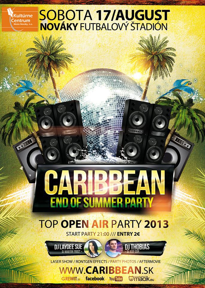 Caribbean end of summer party