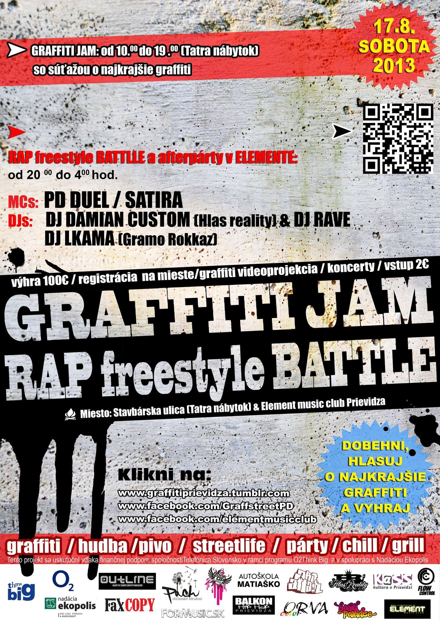 Graffiti jam & Rap freestyle battle