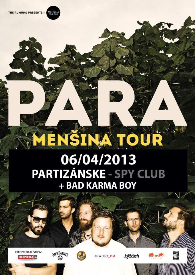PARA * Menšina tour * live @ SPY Club