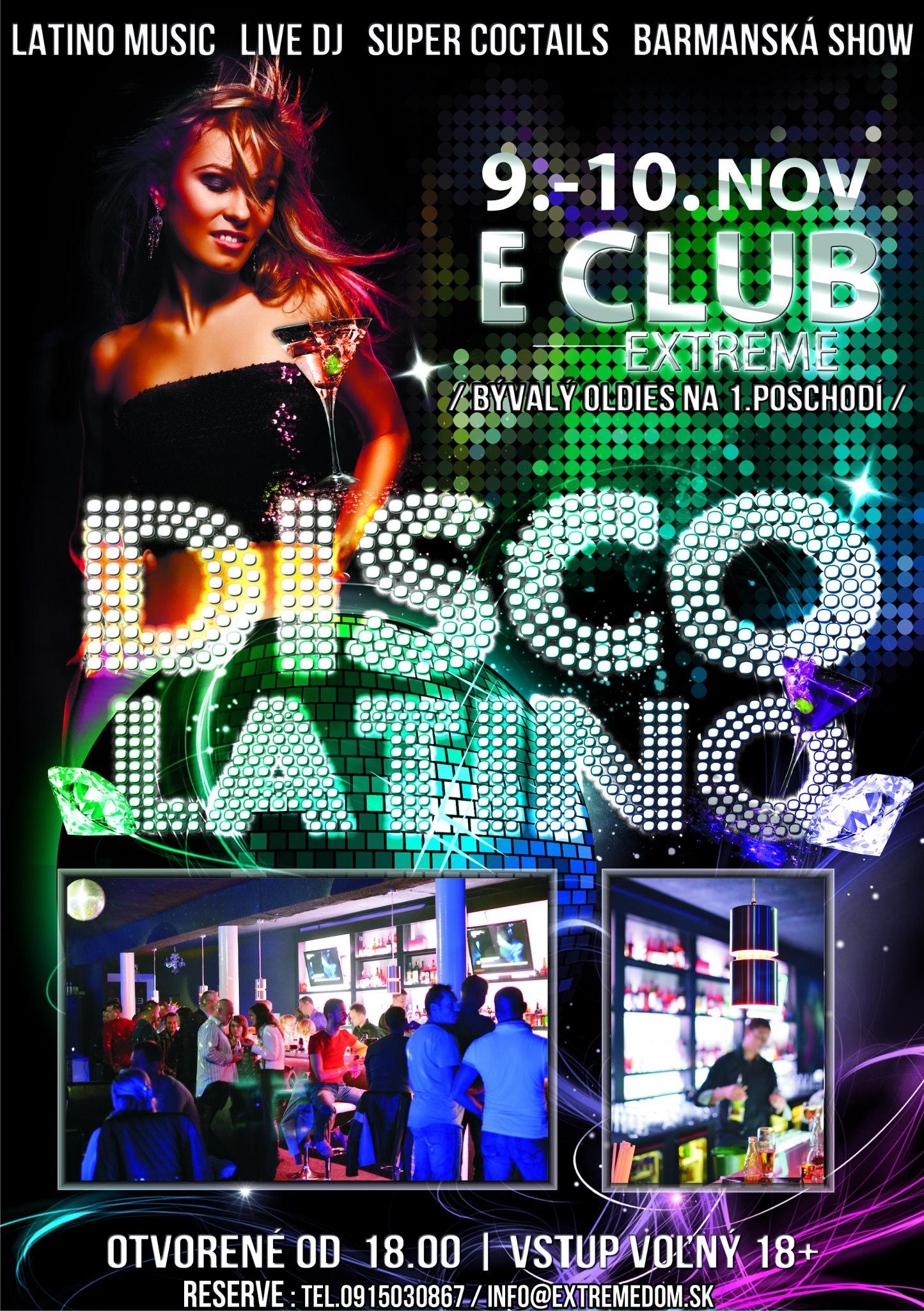 LATINO DISCO víkend / Latino music - Live Dj - Barmanská show