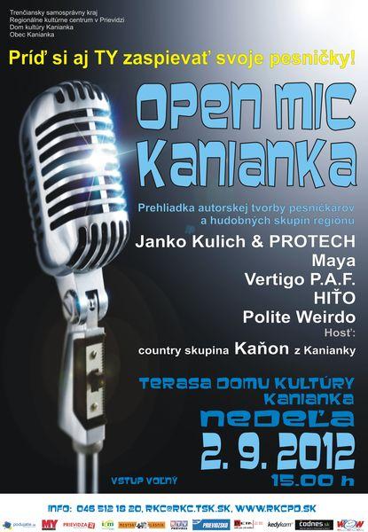 Open mic Kanianka