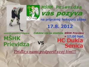 Hokej: MšHK Prievidza - HC Dukla Senica