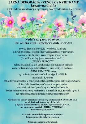"""""""JARNÁ DEKORÁCIA - VENČEK S KVIETKAMI"""""""