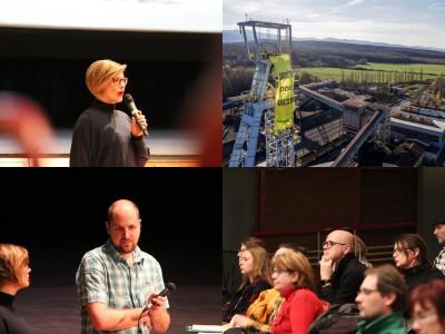 Foto a video: Greenpeace o zmenách klímy a ťažbe uhlia na Hornej Nitre - diskusia s riaditeľkou Greenpeace Ivanou Kohutkovou a Radekom Kubalom