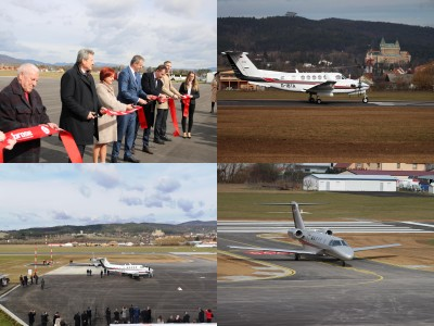 Foto a video: Prievidza má od dnes oficiálne otvorené zmodernizované letisko za 3,1 milióna eur