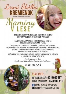 Lesná škôlka Kremienok: Maminy v lese