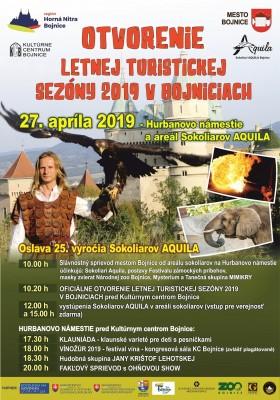 Bojnice: OTVORENIE LETNEJ TURISTICKEJ SEZÓNY 2019 a Oslava 25.výročia Sokoliarov Aquila