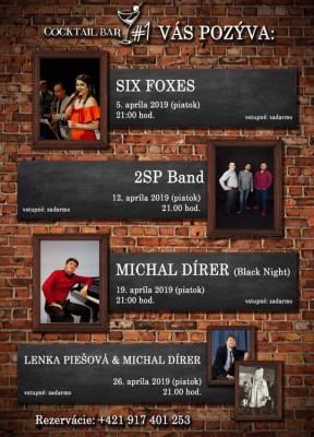 Koncerty Bojnice - apríl Cocktail bar #1