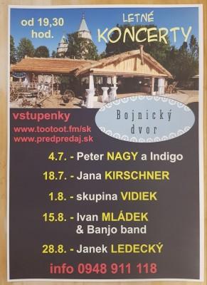 Koncerty Bojnický dvor - Bojnice leto 2019