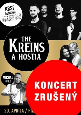KONCERT ZRUŠENÝ - The Kreins a hostia - krst albumu Heaven
