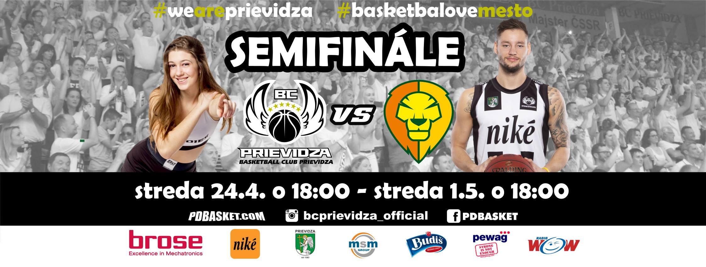 Semifinále: BC Prievidza - BK Levickí Patrioti