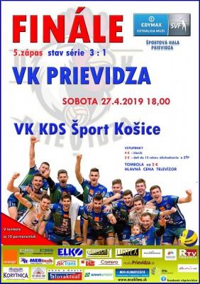 FINÁLE 5. zápas: VK Prievidza - VK Košice