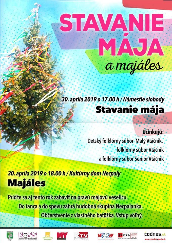 Stavanie mája a majáles 2019 - program na námestí zrušený