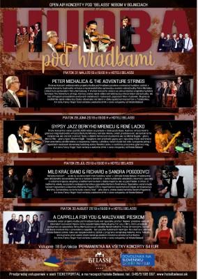 Hudba pod hradbami - Letné koncerty v Hotel Belassi Bojnice