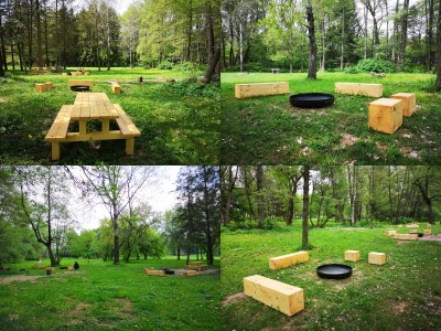Foto a video: V Mestskom parku v Prievidzi pribudla nová pikniková zóna