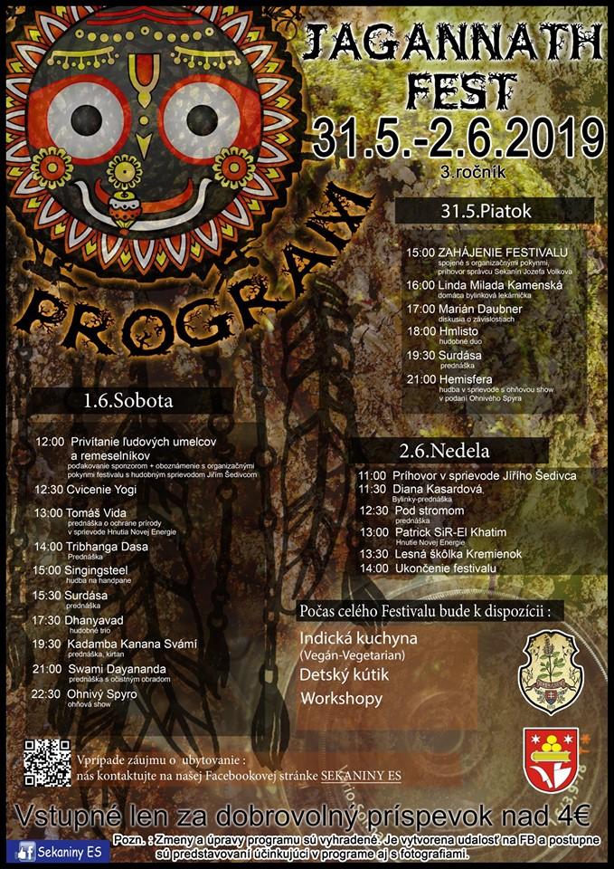 Jagannath Fest 2019: OUTDOOROVO DUCHOVNÝ FESTIVAL POD HOLÝM NEBOM