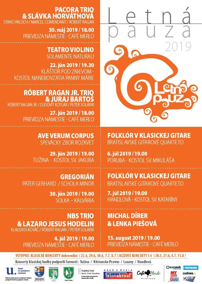 Koncerty Letná pauza 2019