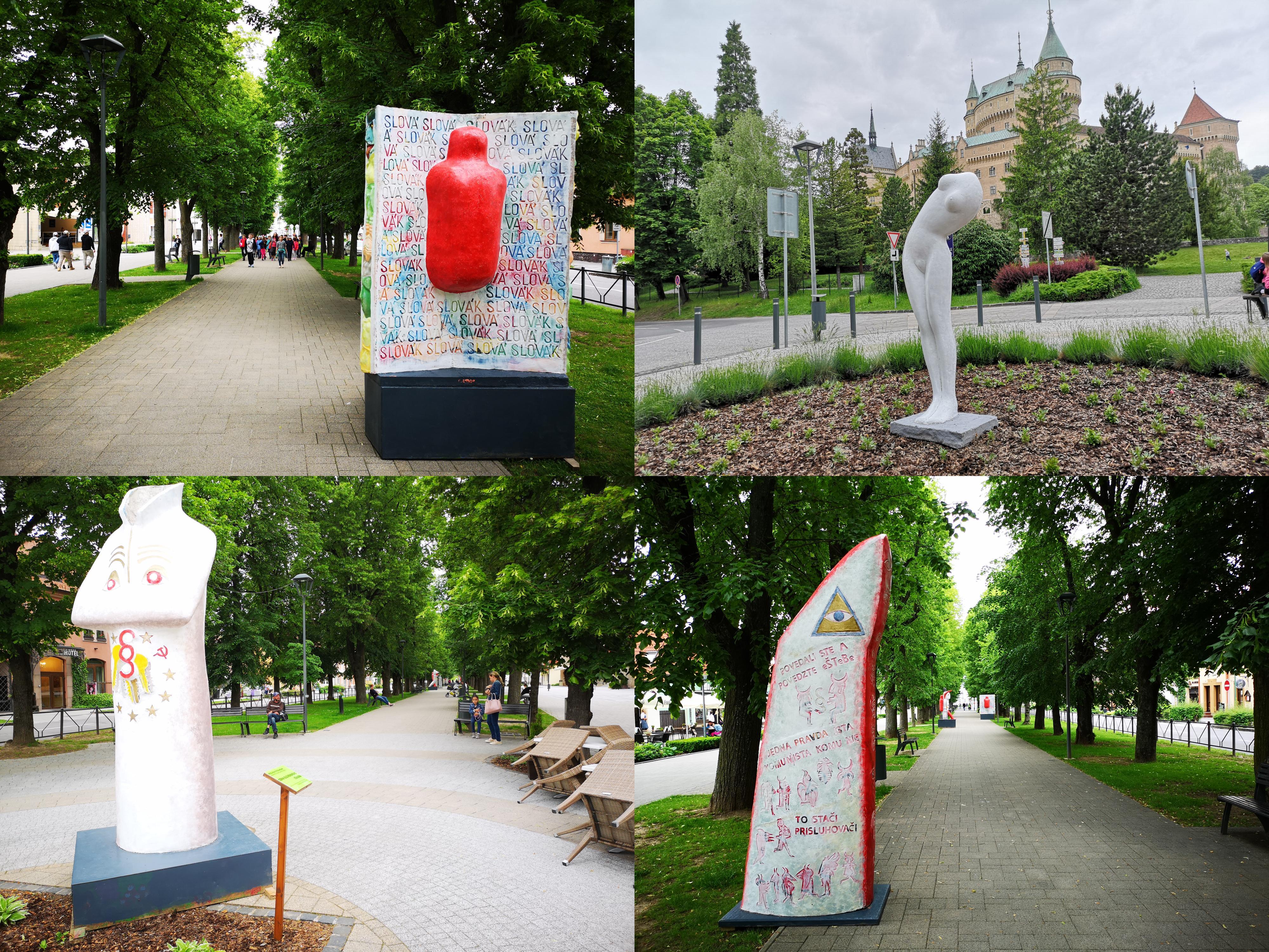 Foto a video: Výstava na pešej promenáde BOJNICE V SOCHE 4. ročník