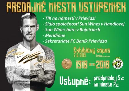 100 rokov futbalu v Prievidzi: Exhibičný zápas Juraj Kucka a Martin Škrtel 0