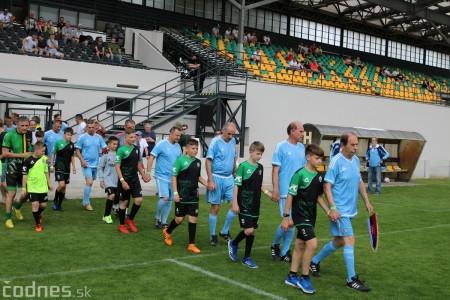 Foto a video: 100 rokov futbalu v Prievidzi veľkolepé oslavy a exhibičný zápas ŠKRŤO tím vs KUCO tím 12
