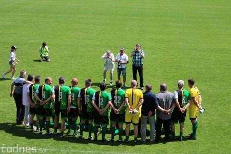 Foto a video: 100 rokov futbalu v Prievidzi veľkolepé oslavy a exhibičný zápas ŠKRŤO tím vs KUCO tím 40