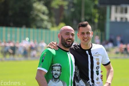 Foto a video: 100 rokov futbalu v Prievidzi veľkolepé oslavy a exhibičný zápas ŠKRŤO tím vs KUCO tím 66