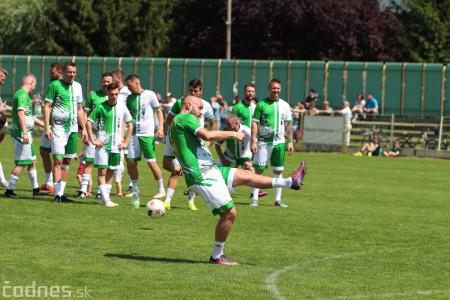 Foto a video: 100 rokov futbalu v Prievidzi veľkolepé oslavy a exhibičný zápas ŠKRŤO tím vs KUCO tím 70