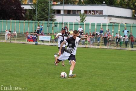 Foto a video: 100 rokov futbalu v Prievidzi veľkolepé oslavy a exhibičný zápas ŠKRŤO tím vs KUCO tím 92