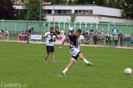 Foto a video: 100 rokov futbalu v Prievidzi veľkolepé oslavy a exhibičný zápas ŠKRŤO tím vs KUCO tím 93