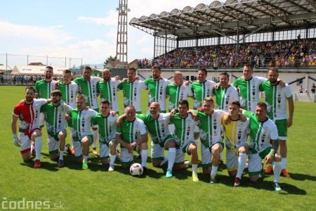 Foto a video: 100 rokov futbalu v Prievidzi veľkolepé oslavy a exhibičný zápas ŠKRŤO tím vs KUCO tím 100