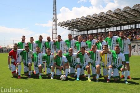 Foto a video: 100 rokov futbalu v Prievidzi veľkolepé oslavy a exhibičný zápas ŠKRŤO tím vs KUCO tím 101