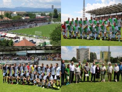 Foto a video: 100 rokov futbalu v Prievidzi veľkolepé oslavy a exhibičný zápas ŠKRŤO tím vs KUCO tím