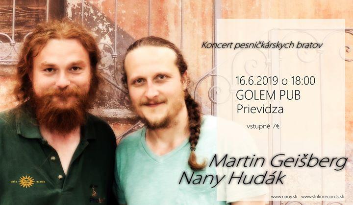 Martin Geišberg a Nany Hudák / Prievidza Golem pub