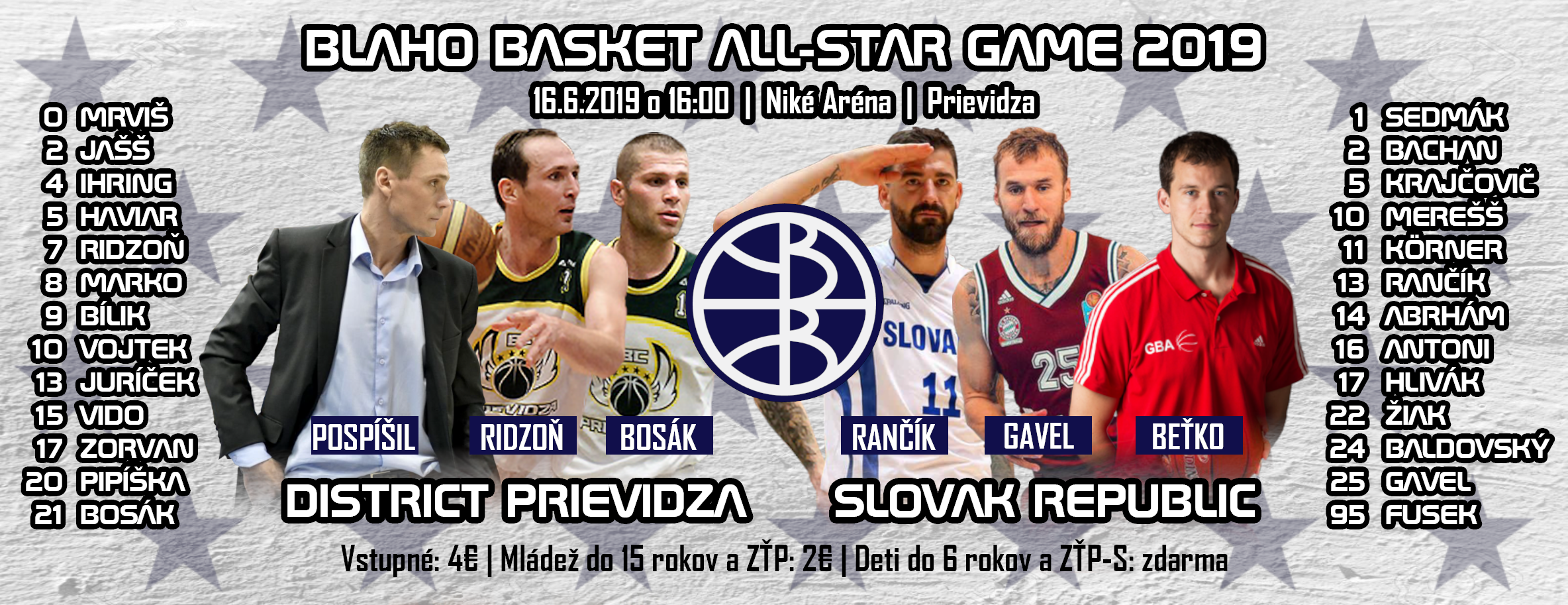 Blaho basketbal: Zápas hviezd - ALL-STAR Game 2019