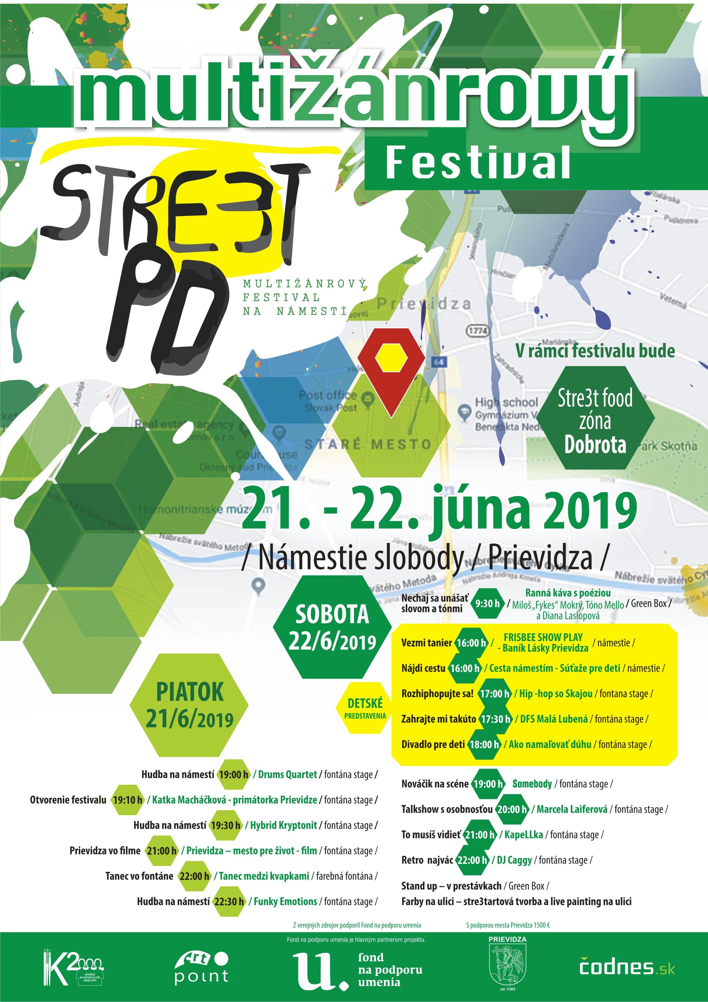 Stre(e)t PD 2019, multižánrový festival na námestí