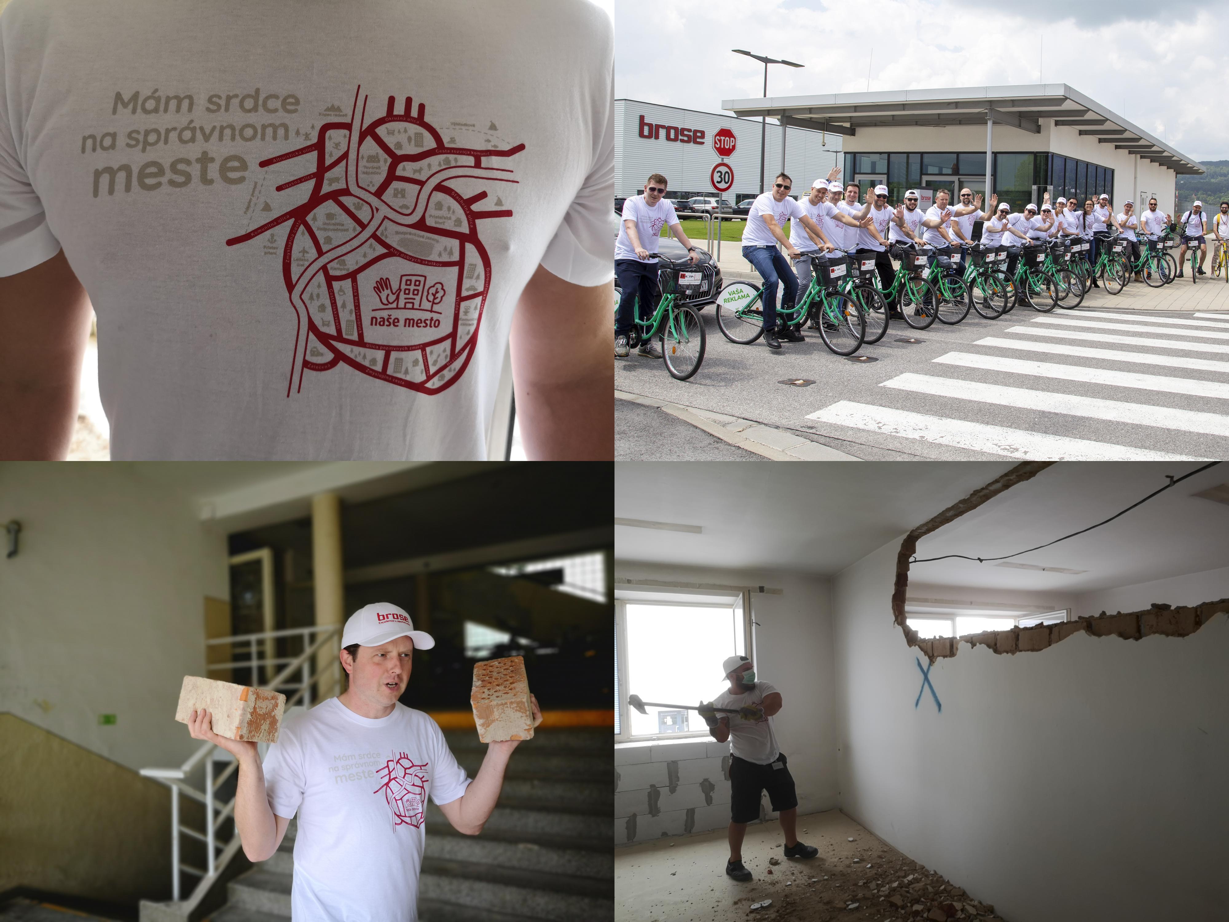 Foto: Firma Brose sa zapojila do týždňa dobrovoľníctva v Galérii Jabloň. Možno vďaka ním otvoria skôr