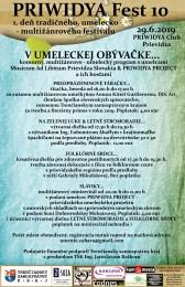 PRIWIDYA Fest 10 - 1. deň desiateho ročníka tradičného, umelecko – multižánrového festivalu 0