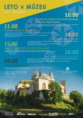 Leto na Bojnickom zámku 2019