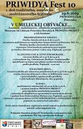 PRIWIDYA Fest 10 - 2. deň desiateho ročníka tradičného, umelecko – multižánrového festivalu 0