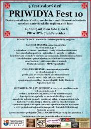 PRIWIDYA Fest 10 - 3. deň desiateho ročníka tradičného, umelecko – multižánrového festivalu 0