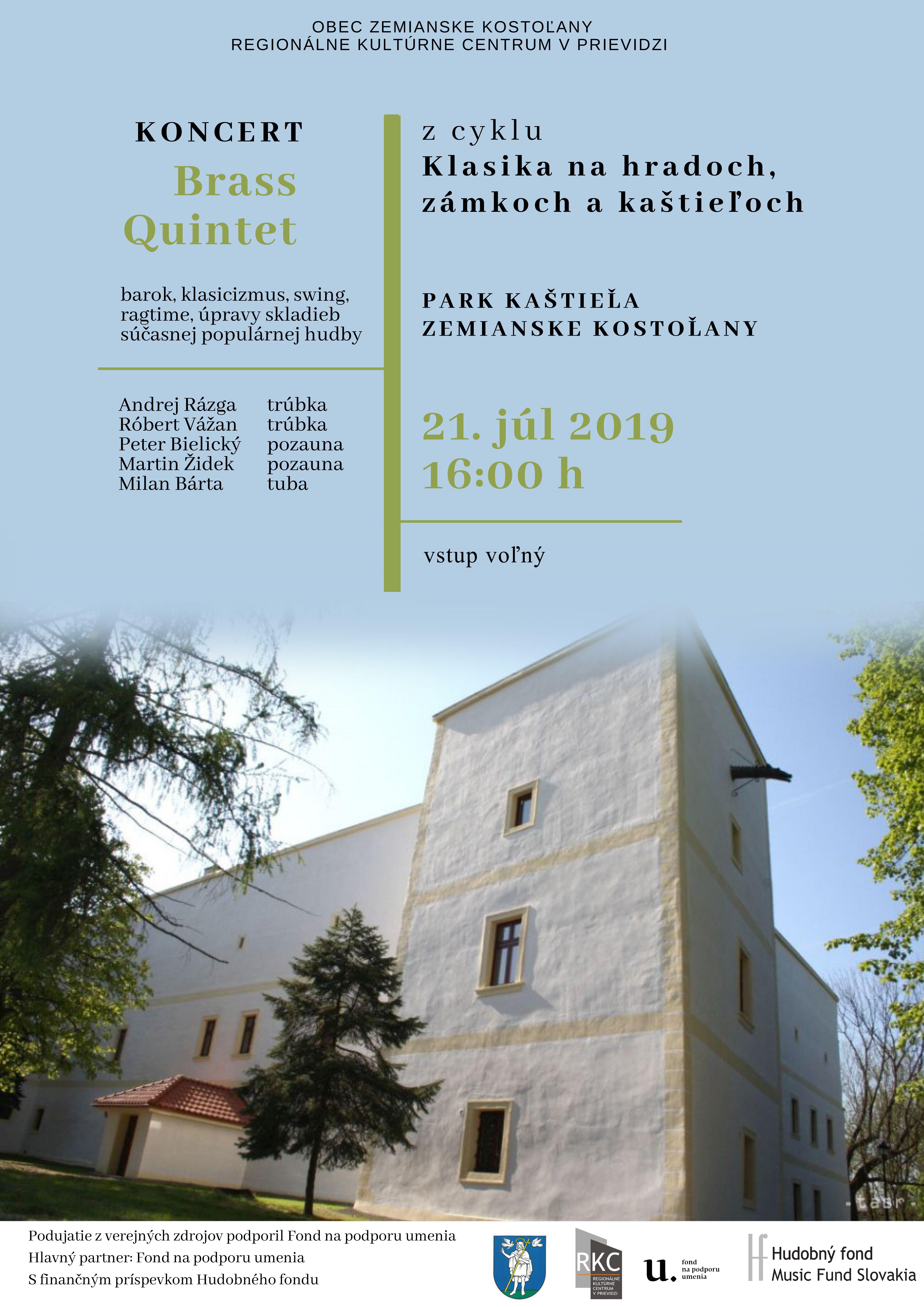 Klasika na zámkoch, hradoch a kaštieľoch - Brass Quintet