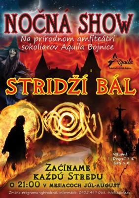 Nočná show - Stridží bál - Sokoliari Bojnice